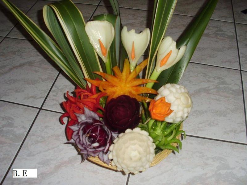 patissier et sculpteur sur fruits et l gumes dans l 39 aude les bouquets de fleurs avec des l gumes. Black Bedroom Furniture Sets. Home Design Ideas