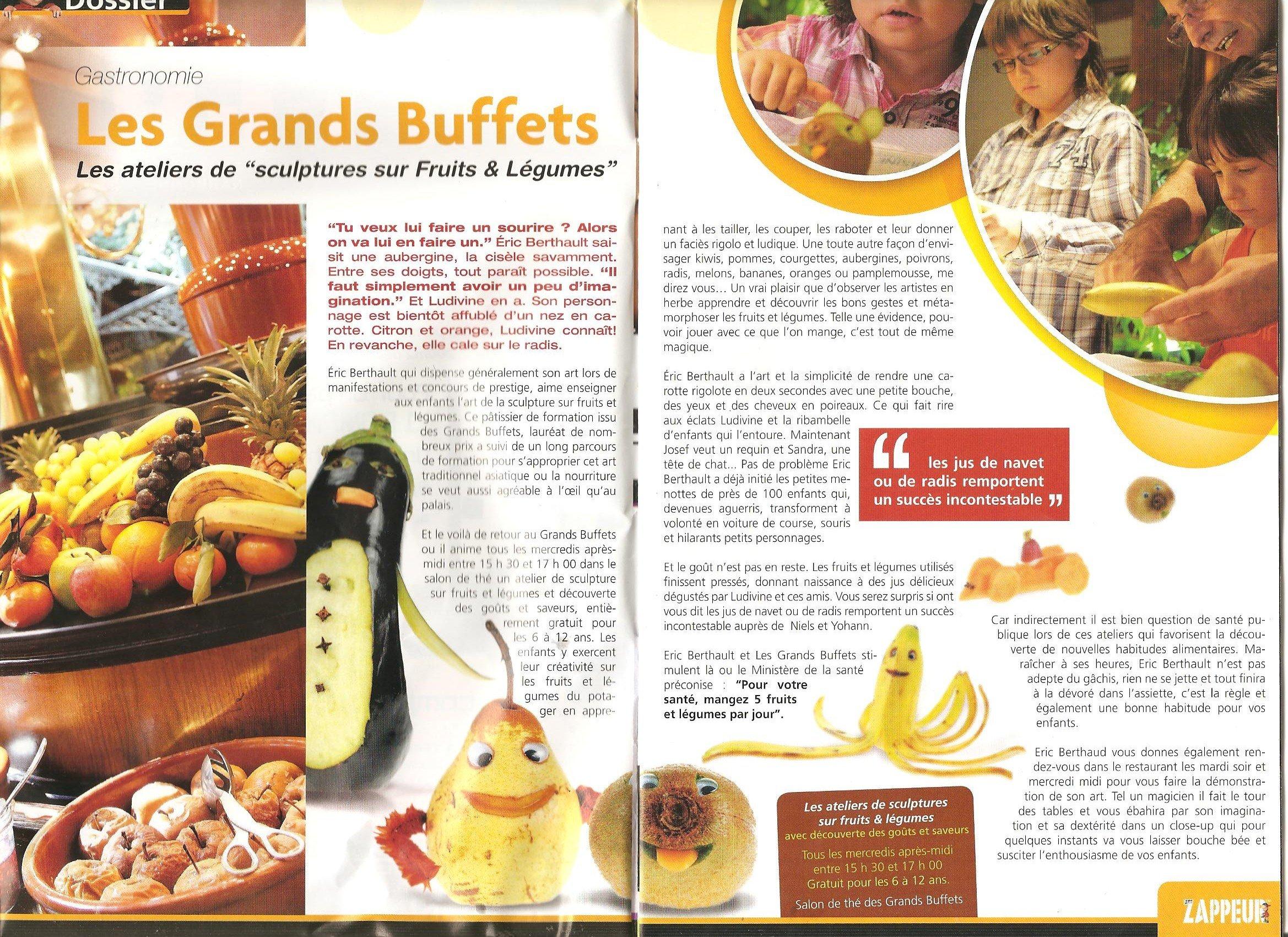 patissier et sculpteur sur fruits et l gumes dans l 39 aude articles de presse. Black Bedroom Furniture Sets. Home Design Ideas